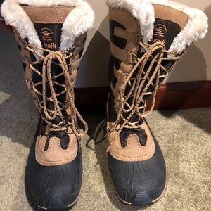 Kamik Thinsulate Chocolate/Tan snow boots